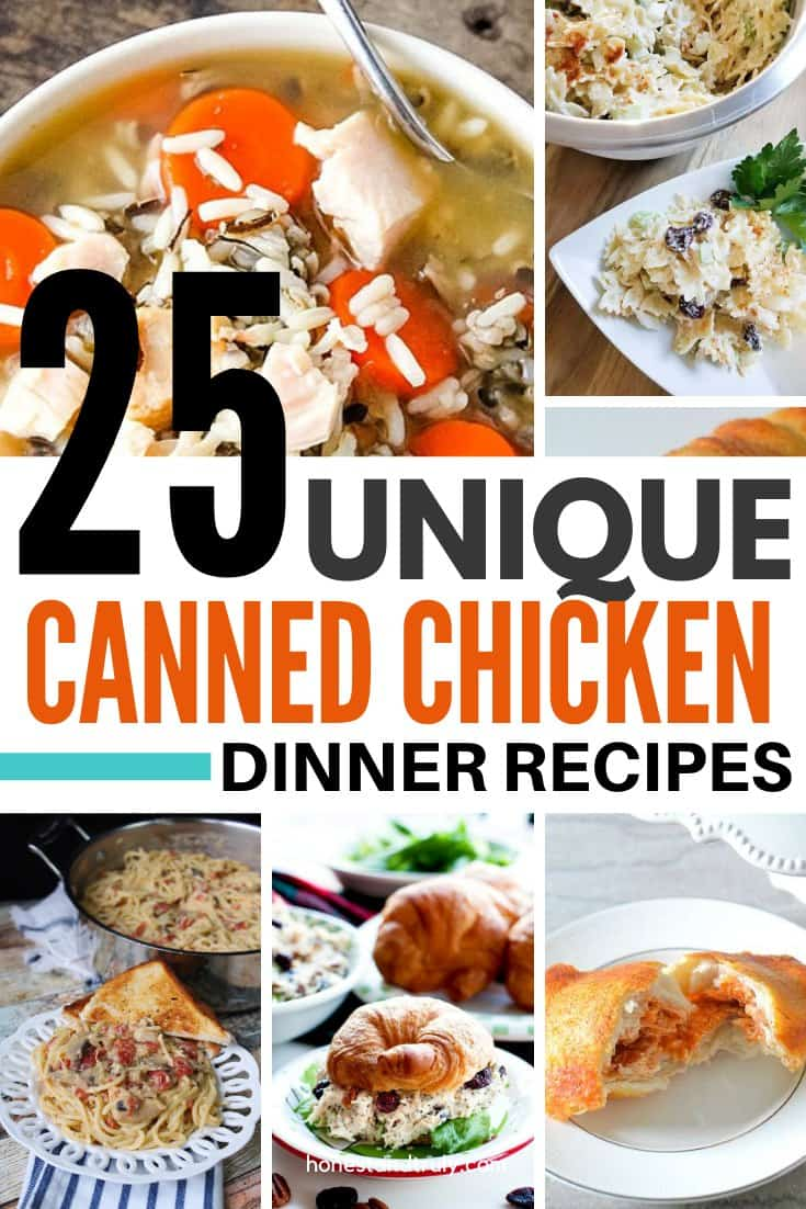 25 canned chicken recipes