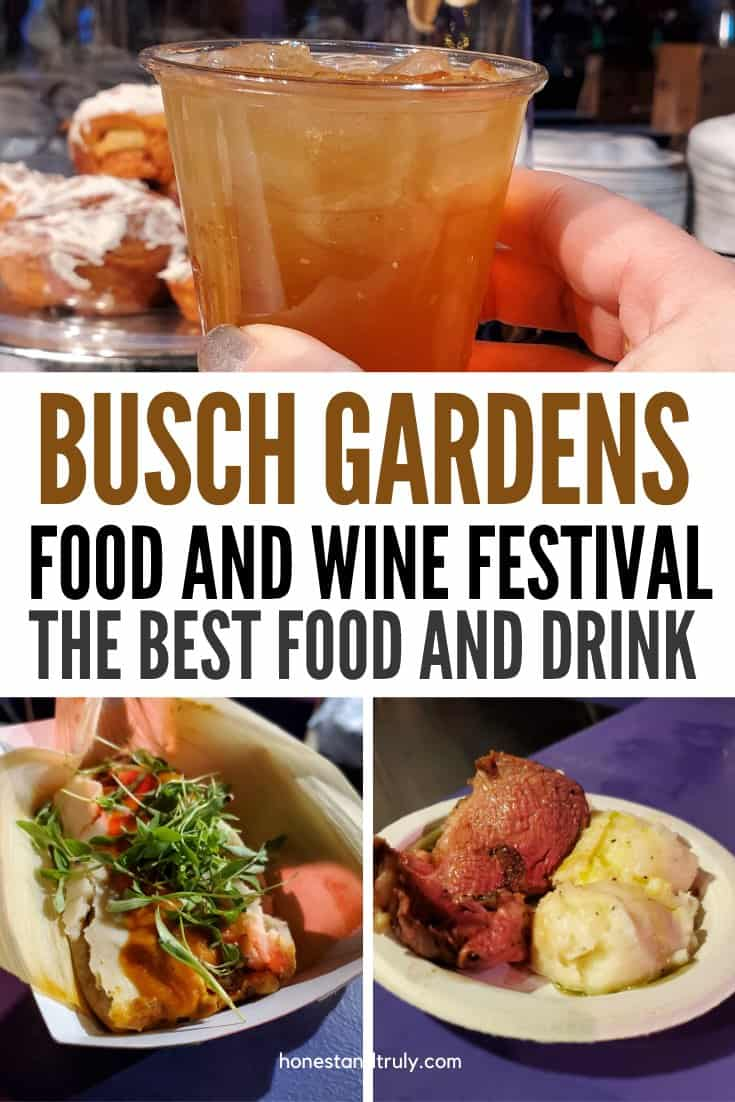 Trying to decide what to eat at Busch Gardens food and wine festival