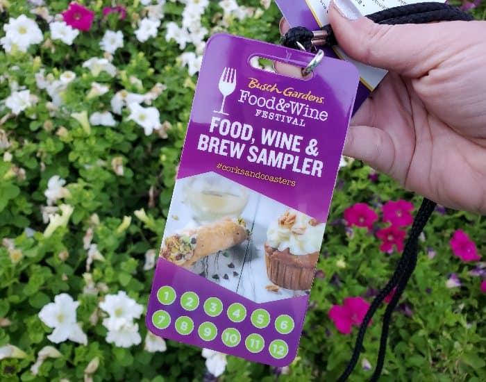 Busch Gardens Food and Wine sampler