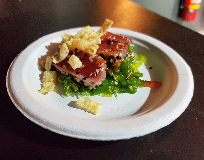 Busch Gardens food and wine Seared tuna