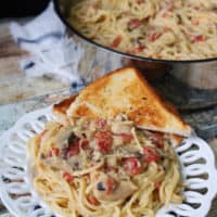 Pantry Chicken Spaghetti