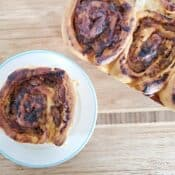 Perfect savory pork cinnamon roll
