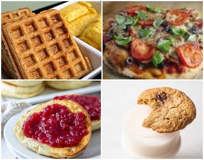 four examples of sourdough discard recipes