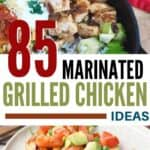 two marinated grilled chicken dishes