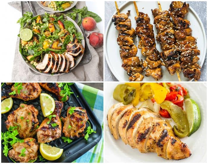 Four grilled chicken dishes
