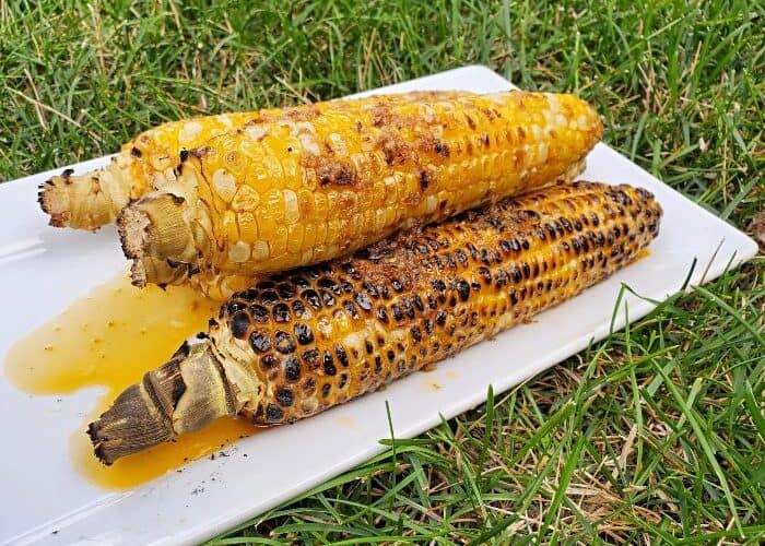 Plated chipotle grilled corn