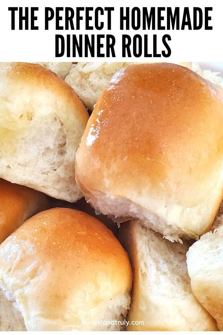 Closeup of yeast dinner rolls