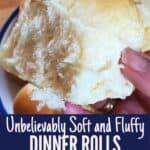 Holding a soft dinner rolls