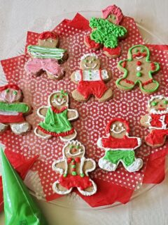 Tray of decorated gingerbread men